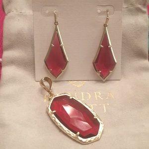 Kendra Scott earrings and pendant.